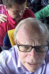 Linja-autossa on tunnelmaa