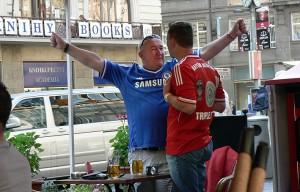 Fanien kohtaaminen. Chelsea ja Bayern München